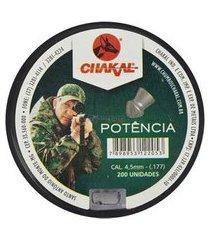 chumbinho chakal potência 4.5mm 200un.