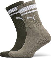 puma crew heritage stripe 2p unisex underwear socks regular socks grön puma