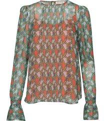 elona blouse lange mouwen oranje custommade