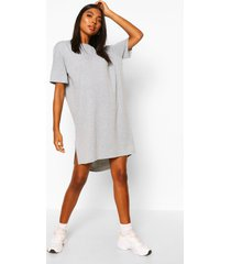 tall jersey dipped hem t-shirt dress, grey marl