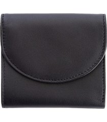 royce leather women's rfid-blocking leather compact wallet - black