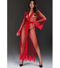 hunkemöller lång cravache kimono röd