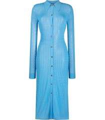 dodo bar or open-knit midi dress - blue