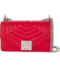 philipp plein bolsa tiracolo original média - vermelho
