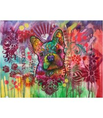 """dean russo frenchie jacket canvas art - 15.5"""" x 21"""""""