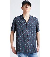 camisa guayabera rombos azul sioux