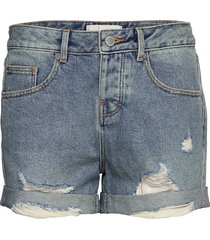 steph boyfriend short shorts denim shorts blå superdry