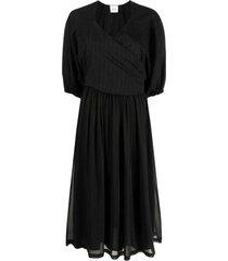 alysi striped midi dress