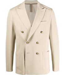 eleventy double-breasted decorative buttoned blazer - neutrals