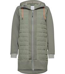fære l hoodie gevoerde lange jas groen kari traa