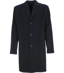 homme plissé issey miyake long jacket 3 buttons