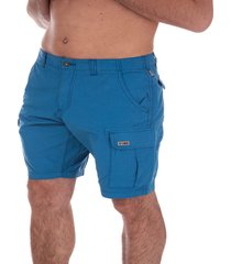 napapijri mens noto2 cargo shorts size 34 inch in blue