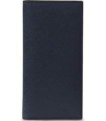 leather vertical wallet - dark blue