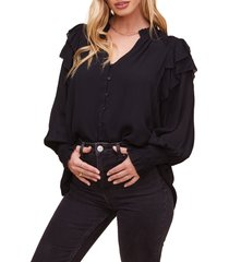 women's astr the label rashida long sleeve blouse