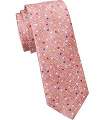 collection polka dot print silk tie