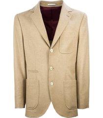 brunello cucinelli wool and cashmere blazer