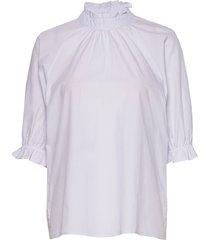 dhpalma blouse blouses short-sleeved blå denim hunter