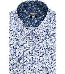 van heusen flex collar blue micro floral slim fit dress shirt
