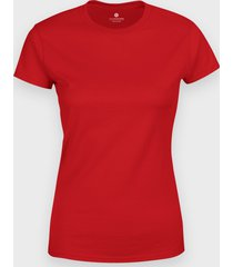 damska koszulka (bez nadruku, gładka) - czerwona