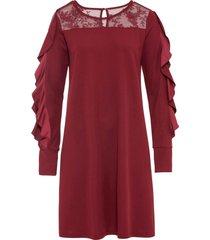 abito con volant e pizzo (rosso) - bodyflirt