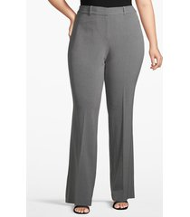 lane bryant women's lane essentials houston trouser pant 14 heather grey
