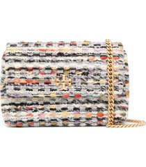 tory burch kira tweed crossbody bag - neutrals