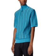boss men's oromeo turquoise sweater