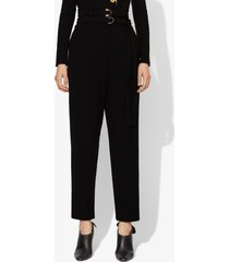proenza schouler wool belted tapered pant black 0