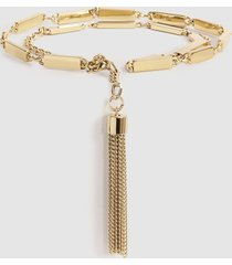 reiss melody - chain belt in gold, womens, size l