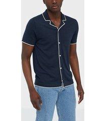 selected homme slhmoon ss button cardigan b skjortor mörk blå