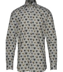 herman slim shirt overhemd casual grijs oscar jacobson
