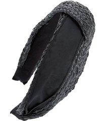 tasha woven headband in black at nordstrom