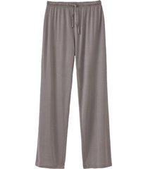 pyjamabroek uit biologische zijde, antraciet 36/38