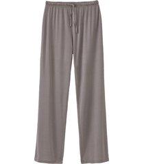pyjamabroek uit biologische zijde, antraciet 44/46