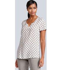 blouse alba moda offwhite::grijs