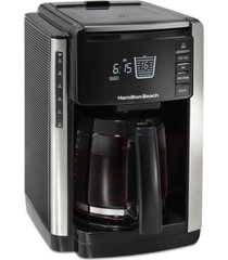 hamilton beach 12 cup trucount programmable coffee maker with built in scale