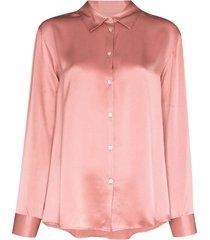 asceno london long-sleeve pajama top - pink