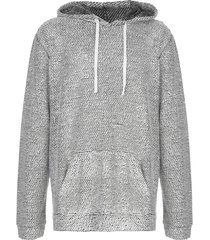 onia michael chunky knit hoodie - white