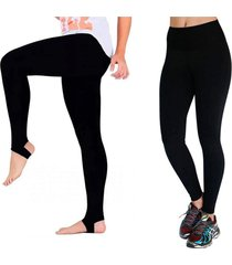 kit 2 calça legging, pezinho e normal helena lopes preto