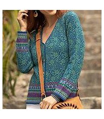 100% alpaca cardigan, 'spirit of the andes' (peru)