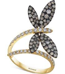 effy diamond butterfly statement ring (1-1/8 ct. t.w.) in 14k gold