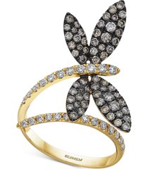 effy diamond butterfly statement ring (1-1/8 ct. t.w.) in 14k gold