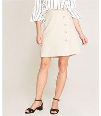 falda en a con botones unicolor