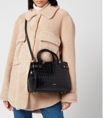 furla women's lady medium tote bag - black