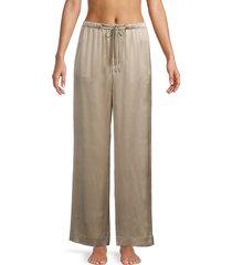vince women's satin pajama pant - taupe - size l