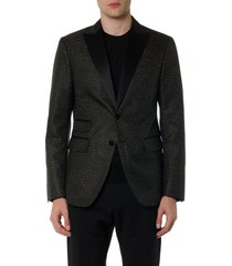 black geometric sport jacket