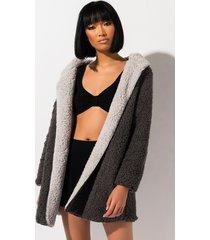 akira keep calm reversible fleece coat