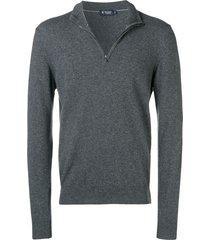 hackett high neck pullover - grey