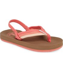 infant reef little ahi beach thong sandal, size 3/4 m - coral