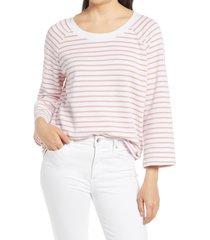 women's caslon scoop neck sweatshirt, size xx-small - white